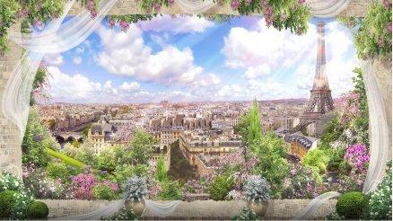 Paris'e Bakan Balkon Duvar Kağıdı