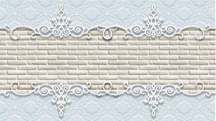 Floral Desenli Briket Duvar Kağıdı