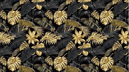 Altın Rengi ve Siyahın Uyumu Duvar Kağıdı