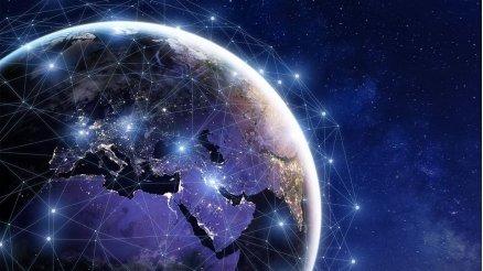 Dünya İletişim Similasyonu Duvar Kağıdı
