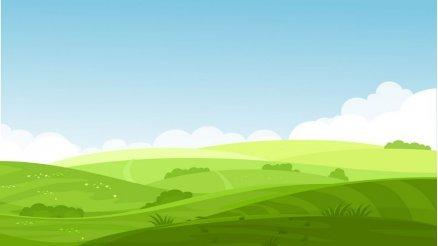Yeşil Doğa Temalı Çocuk Odası Duvar Kağıdı