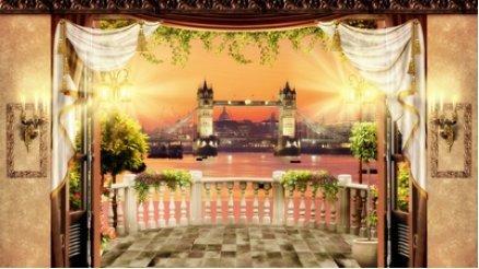 Londra TowerBridge Manzara Balkon Duvar Kağıdı