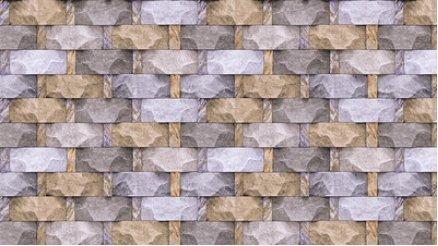 Briket Taş Duvar Kağıdı