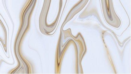 Akışkan Görünümlü Krem Rengi Duvar Kağıdı