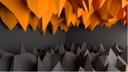 Derinlik Turuncu ve Siyah Duvar Kağıdı