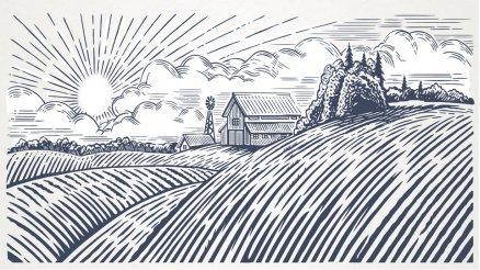 Çizim Bahçe Duvar Kağıdı