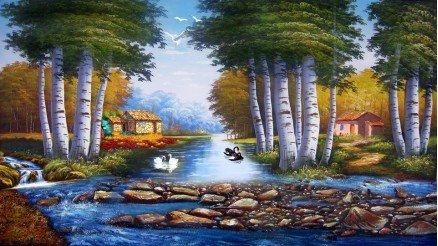 SNT-160017096 - Sanatsal Duvar Kağıdı