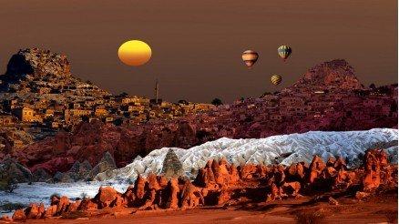 Nevşehir ve Balonlar Duvar Kağıdı