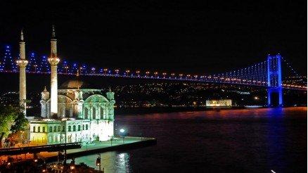 Ortaköy Camii'den Boğaz Köprüsü Duvar Kağıdı