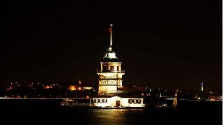 Gece Kız Kulesi Duvar Kağıdı