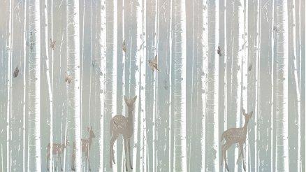 Bambu Ağaçlar ve Geyikler Duvar Kağıdı