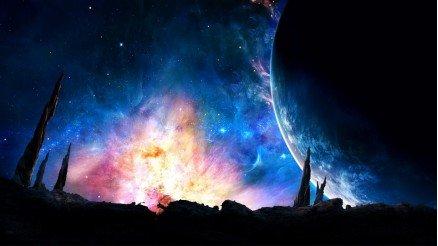 UZY-150017126 Uzay Duvar Kağıdı