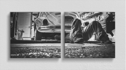 Volkswagen Beetle Kanvas Tablo