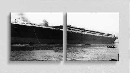 Tarihi Efsane Titanic Gemisi Kanvas Tablo