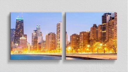 DS-180017003 - Şehir Temalı Kanvas Tablo