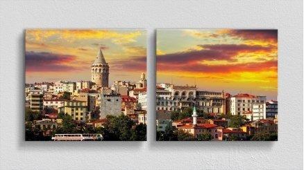 DS-180017010 - Şehir Temalı Kanvas Tablo