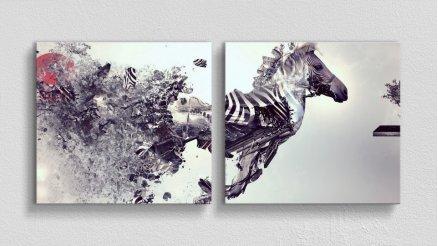 HYV-110017020 - Hayvanlar Alemi Kanvas Tablo