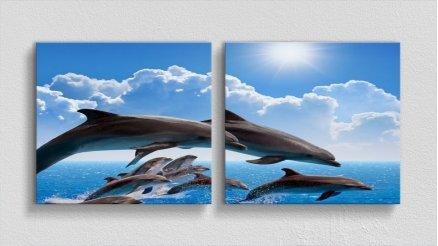 HYV-110017031 - Hayvanlar Alemi Kanvas Tablo