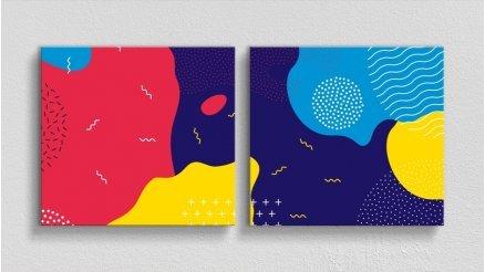 Renkli Soyut Kanvas Tablo