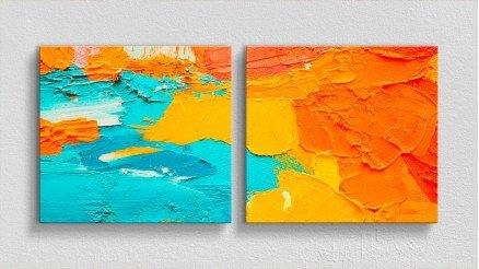 Cesur Sıcak Renkler Sanatsal Kanvas Tablo